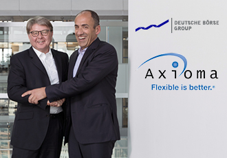Theodor Weimer, CEO of Deutsche Börse AG and Sebastian Ceria, founder and CEO of Axioma
